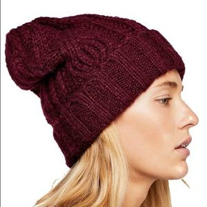 Free People Harlow Cable Knit Beanie